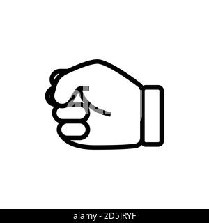 Clenched fist line icon. Design template vector - Stock Photo