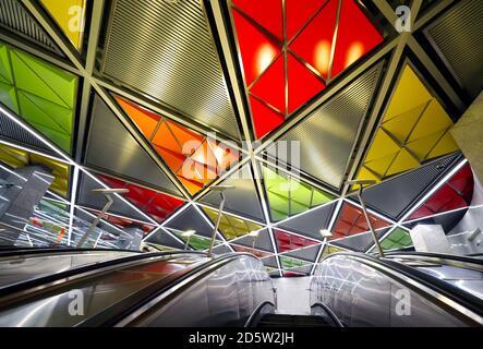 Elektrozavodskaya Metro Station in Moscow - Stock Photo