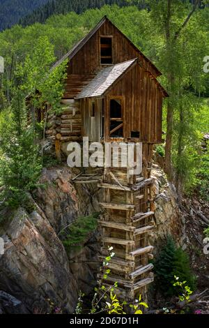Crystal Mill (Sheep Mountain Power House) generated compressed air for miners in the nearby silver mines, Carbondale, Colorado, USA