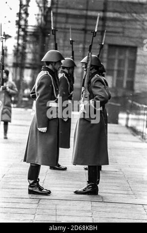 Changing of the guard at the Neue Wache in East Berlin - Stock Photo