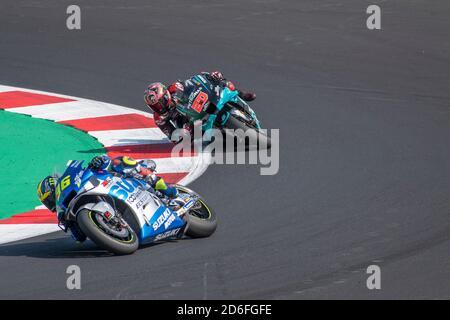 Rimini - Misano World Circuit Marco Simoncelli: Mir and Quartararo  riders - Stock Photo