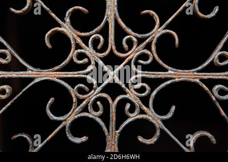 Old wrought ironwork in Greyfriars Kirkyard, Edinburgh, Scotland. - Stock Photo