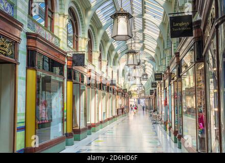 The Royal Arcade Norwich interior in Norwich Norfolk East Anglia England UK GB Europe
