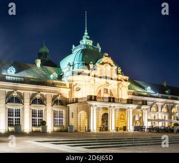 Kaiserpalais, built in 1908 as New spa hotel with reading room, lounges, restaurant, billiard room, concert hall, spa gardens, Bad Oeynhausen, East - Stock Photo