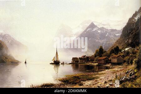 Made in U.S.A Giclee Prints Norwegian Fjord by Anders Askvold Landscape Art