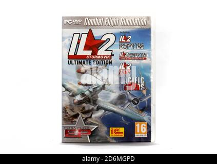 Where:   When:   Who:   What:   Why:  Description:   IL2 Forgotten Battles, IL2 Forgeotten Battles Ace Expansion pack, Pacific Fighters, four excellen - Stock Photo