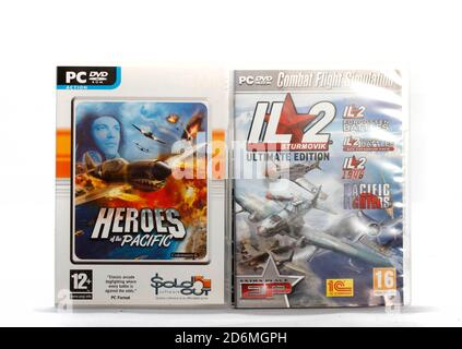 Where:   When:   Who:   What:   Why:  Description:  Heroes of the Pacific and IL2 Forgotten Battles, IL2 Forgeotten Battles Ace Expansion pack, Pacifi - Stock Photo