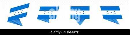 Flag of Honduras in modern abstract design, vector flag set. - Stock Photo