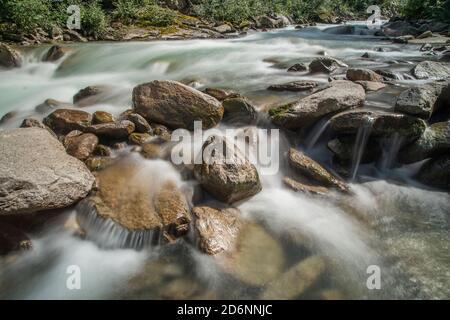 Krimml Waterfalls, greatest waterfall europa, High Tauern National Park, Pinzgau, Salzburg, Austria