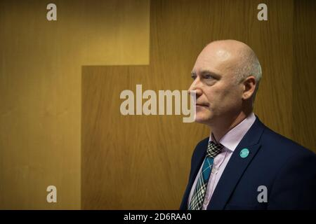 Joseph FitzPatrick, Scottish National Party politician serving as Minister for Public Health, Sport and Wellbeing, in his offices within the Scottish Parliament in Edinburgh, Scotland, 19 February 2020. - Stock Photo