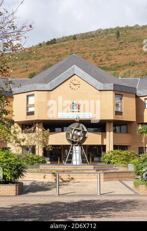 Neath & Port Talbot Borough Council building, Civic Centre, Port Talbot, Neath & Port Talbot County Borough, Wales, United Kingdom - Stock Photo