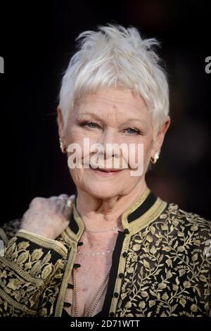 Dame Judi Dench attending the Olivier Award, at the Royal Opera House in London. - Stock Photo