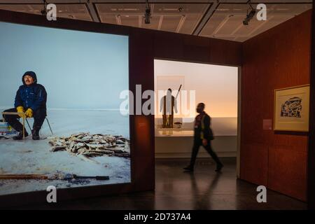 London, UK. 20th Oct, 2020. The Arctic Culture and Climate Citi exhibition at The British Museum. Photo date: Tuesday, October 20, 2020. Photo: Roger Garfield/Alamy Live News.