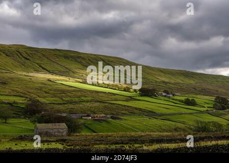 Wether Hill seen from Sleddale near Hawes ion Yorkshire - Stock Photo