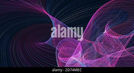 Abstract colored polygonal mesh background. 3d rendering