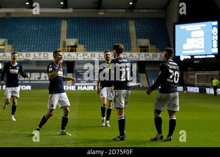 London, UK. 20th Oct, 2020. during the Sky Bet Championship match between Millwall and Luton Town at The Den, London, England on 20 October 2020. Photo by Carlton Myrie/PRiME Media Images. Credit: PRiME Media Images/Alamy Live News
