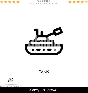 Tank icon. Simple element from digital disruption collection. Line Tank icon for templates, infographics and more - Stock Photo