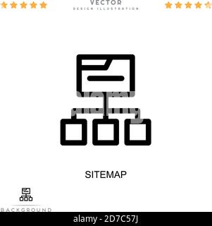 Sitemap icon. Simple element from digital disruption collection. Line Sitemap icon for templates, infographics and more - Stock Photo
