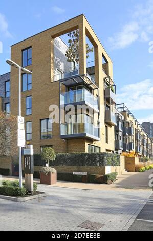 Town Houses and apartments on Weigall Road.  Part of Kidbrooke Village, a huge new residential development in the London Borough of Greenwich, UK.