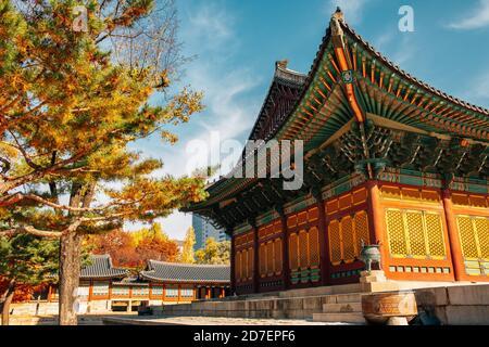 Deoksugung Palace at autumn in Seoul, Korea