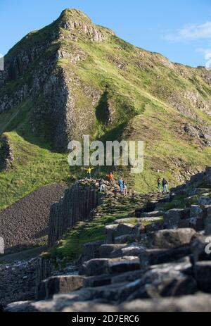 Giant's Causeway, a UNESCO world heritage site consisting of some 40,000 basalt columns located on the Antrim coast of Northern Ireland, U.K.