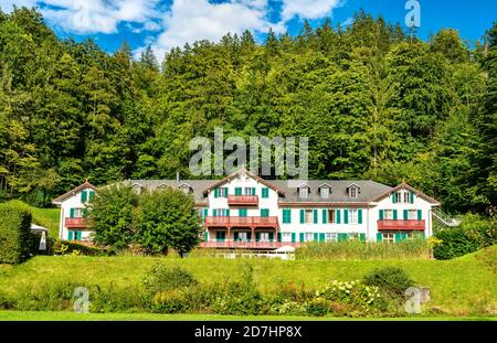 House at Giessbach, Switzerland - Stock Photo