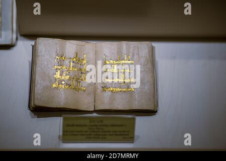 Ankara, Turkey; 08 October 2020: Manuscript Quran view from ancient times - Stock Photo