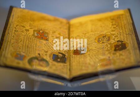Ankara, Turkey; 08 October 2020: Manuscript Pedigree of Holy Prophet Mohammed - Stock Photo