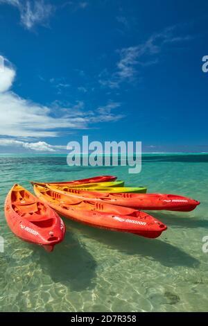 Kayaks, Muri Lagoon, Rarotonga, Cook Islands, South Pacific