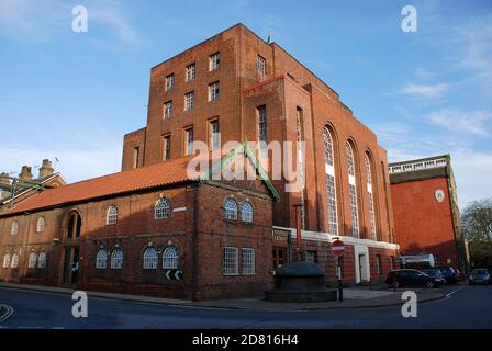 The Greene King brewery in Bury St Edmunds, Suffolk, UK - Stock Photo