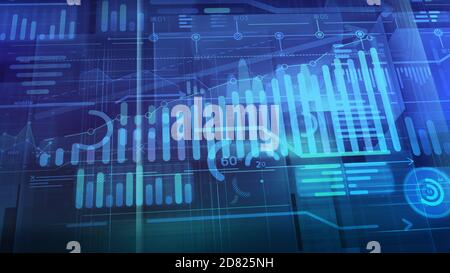 Business background with 3D abstract infographic space.