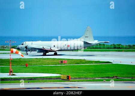 JSDF, Kawazaki P3 Maritime Surveilance and Rescue, 5052, Naha AFB, Ryukyo Islands, Okinawa, Japan