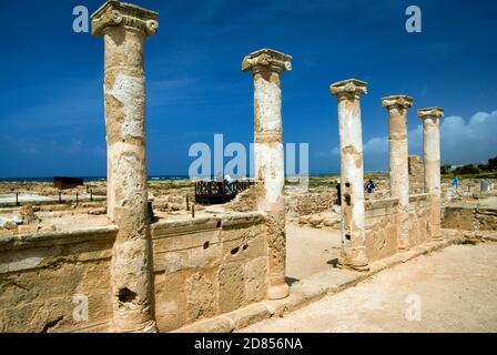 House of Theseus, Archaeological Park, Paphos, Cyprus.
