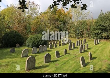 Pales Quaker Meeting House cemetery, Llandegley, Llandrindod Wells, Radnorshire, Powys, Wales, Great Britain, United Kingdom, UK, Europe - Stock Photo