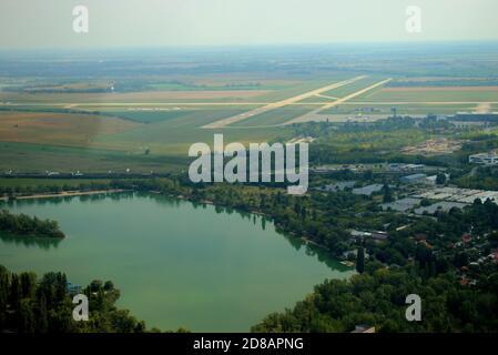 Runway strip of the Bratislava international airport in Slovakia 11.9.2020