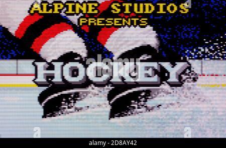 Hockey - Atari Lynx Videogame - Editorial use only - Stock Photo