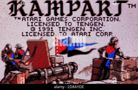 Rampart - Atari Lynx Videogame - Editorial use only - Stock Photo