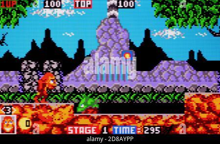 Toki - Atari Lynx Videogame - Editorial use only - Stock Photo