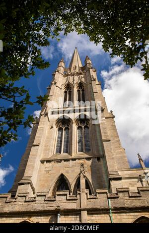 UK, England, Lincolnshire Wolds, Louth, Upgate, St James' Church, England's highest medieval parish church spire