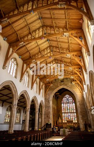 UK, England, Lincolnshire Wolds, Louth, Upgate, St James' Church, interior, nave looking towards altar