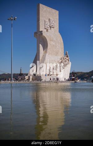 Monument of the Discoveries (Padrão dos Descobrimentos) in Lisbon, Portugal, Europe.