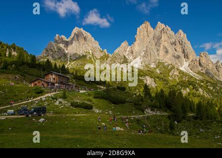 Dolomites mountains in Italy  during the summer. Stock Photo