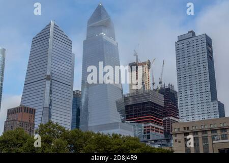 Development in and around Hudson Yards in New York on Wednesday, October 21, 2020..  (© Richard B. Levine) - Stock Photo