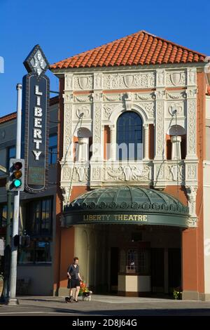 Liberty Theatre a National Register of Historic Places building in Astoria - Stock Photo