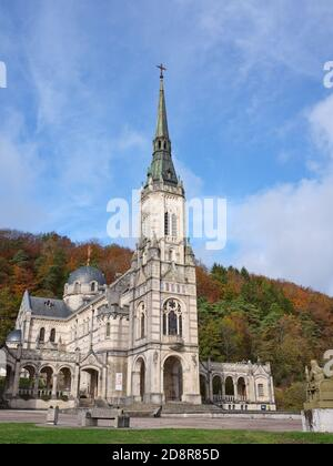 Basilica of Bois-Chenu, dedicated to Joan of Arc whose birthplace is less than 2km away in Domrémy-la-Pucelle. Vosges, Grand Est, France. - Stock Photo