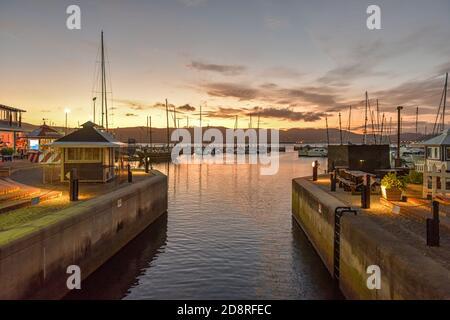 Knysna Waterfront at sunset, Knysna, Garden Route, South Africa