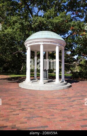 Chapel Hill, NC / USA - October 21, 2020: The Old Well on the campus of the University of North Carolina - Stock Photo