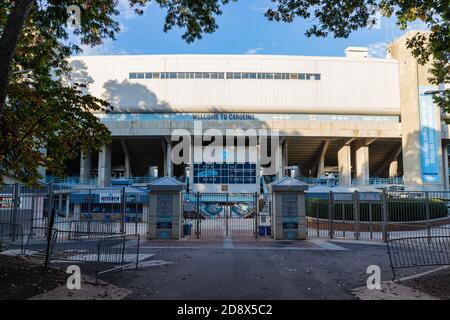 Chapel Hill, NC / USA - October 23, 2020: Kenan Stadium on the campus of the University of North Carolina - Stock Photo