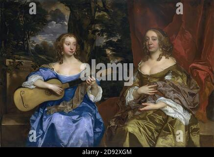 Sir Peter Lely - Two Ladies of the Lake Family - Stock Photo