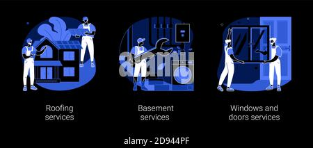 House maintenance abstract concept vector illustrations. - Stock Photo
